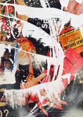"""27"""" x 51"""", magazine clippings and latex paint on canvas, 2015"""