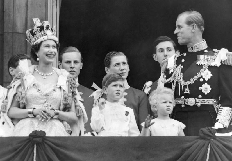 Queen Elizabeth, Prinzessin Anne und Prinz Philip