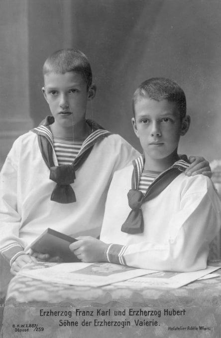 Franz Karl von Österreich-Toskana und Bruder Hubert
