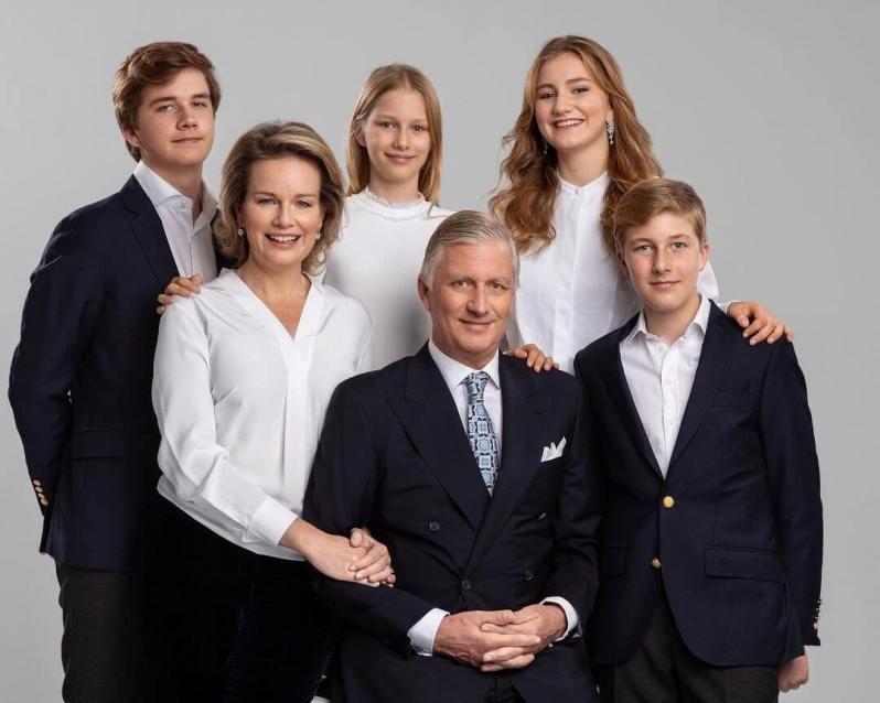 Belgische Königsfamilie schickt Weihnachtsgrüße