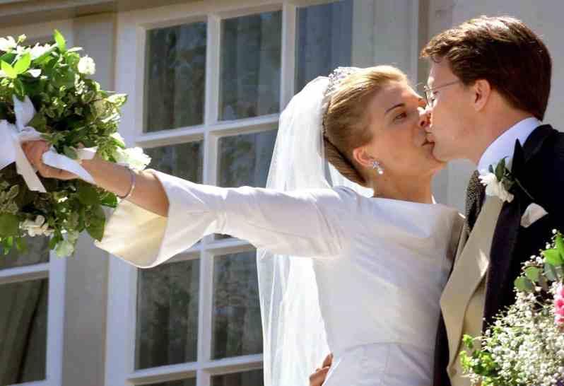 Hochzeitskuss Prinzessin Laurentien und Prinz Constantijn