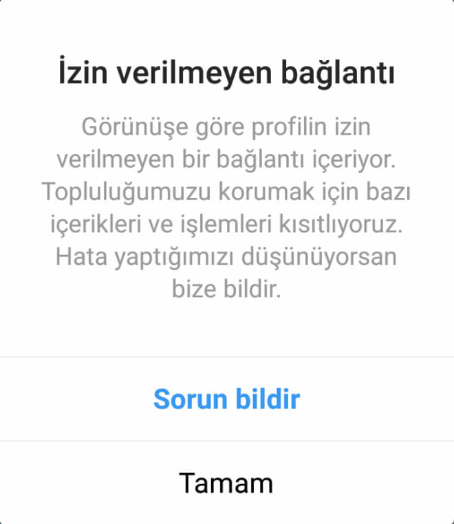 instagram izin verilmeyen bağlantı sorunu ve çözümü | Sistem ve Ağ ...
