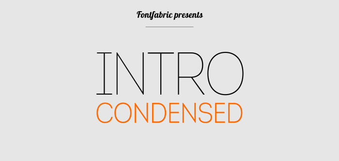 Intro Condensed Free | Fontfabric™