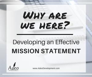 Non-Profit Mission Statement | Adeo Development Solutions