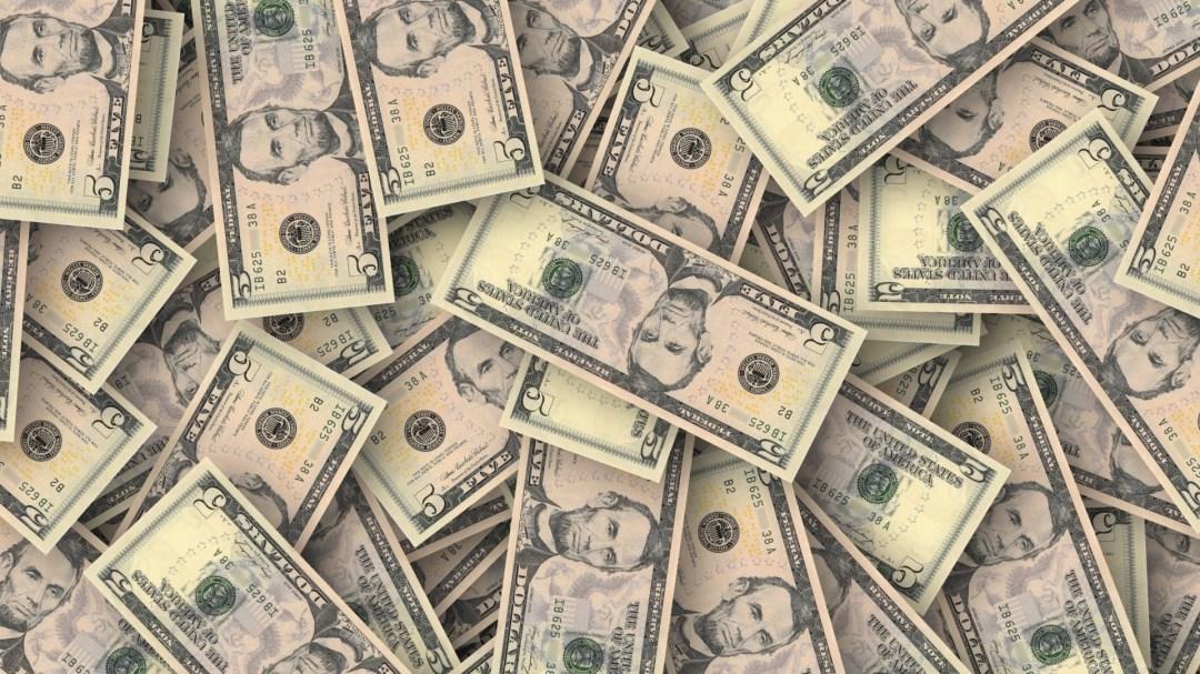 Scattered money