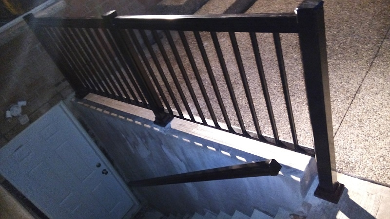Aluminum Railings Basement Entrance Adept Services 416 716 3780 | Outside Stairs To Basement | Outside | Brick | Beautiful | Underground | Enclosed Porch
