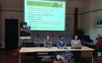 ADERAVI ha participado en Arévalo, este jueves día 11 de abril, en el Seminario «La Cooperación Interterritorial LEADER. Periodo 2014-2020»