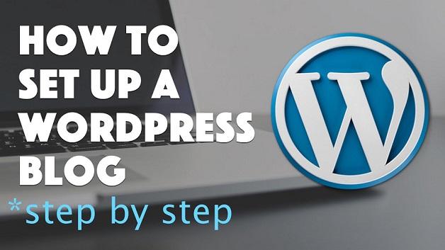 wordpress blog set up