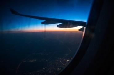 view from plane .. Qatar dawn