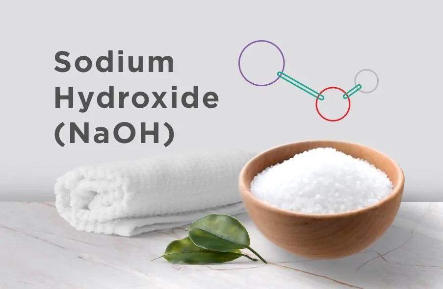 bahan pembuatan sabun batang berupa NaOH (Sodium Hidroksida)