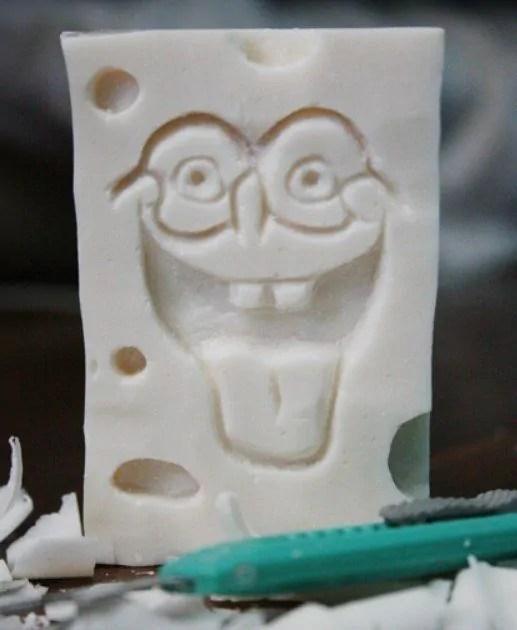 Gambar kerajinan sabun bentuk spongebob