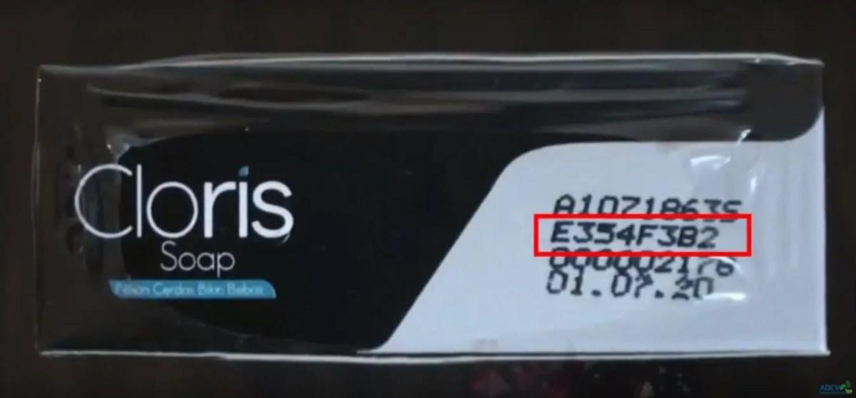 barcode kemasan produk cloris soap