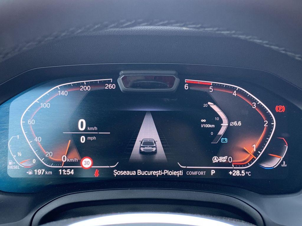 BMW 320d xDrive Touring instrumentar de bord
