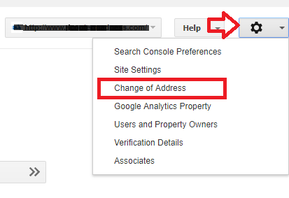 Change of Address Google Search Console