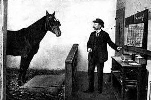 Kloge Hans med sin træner