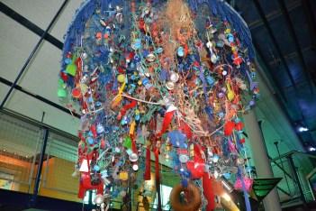 Plastic flotsam art