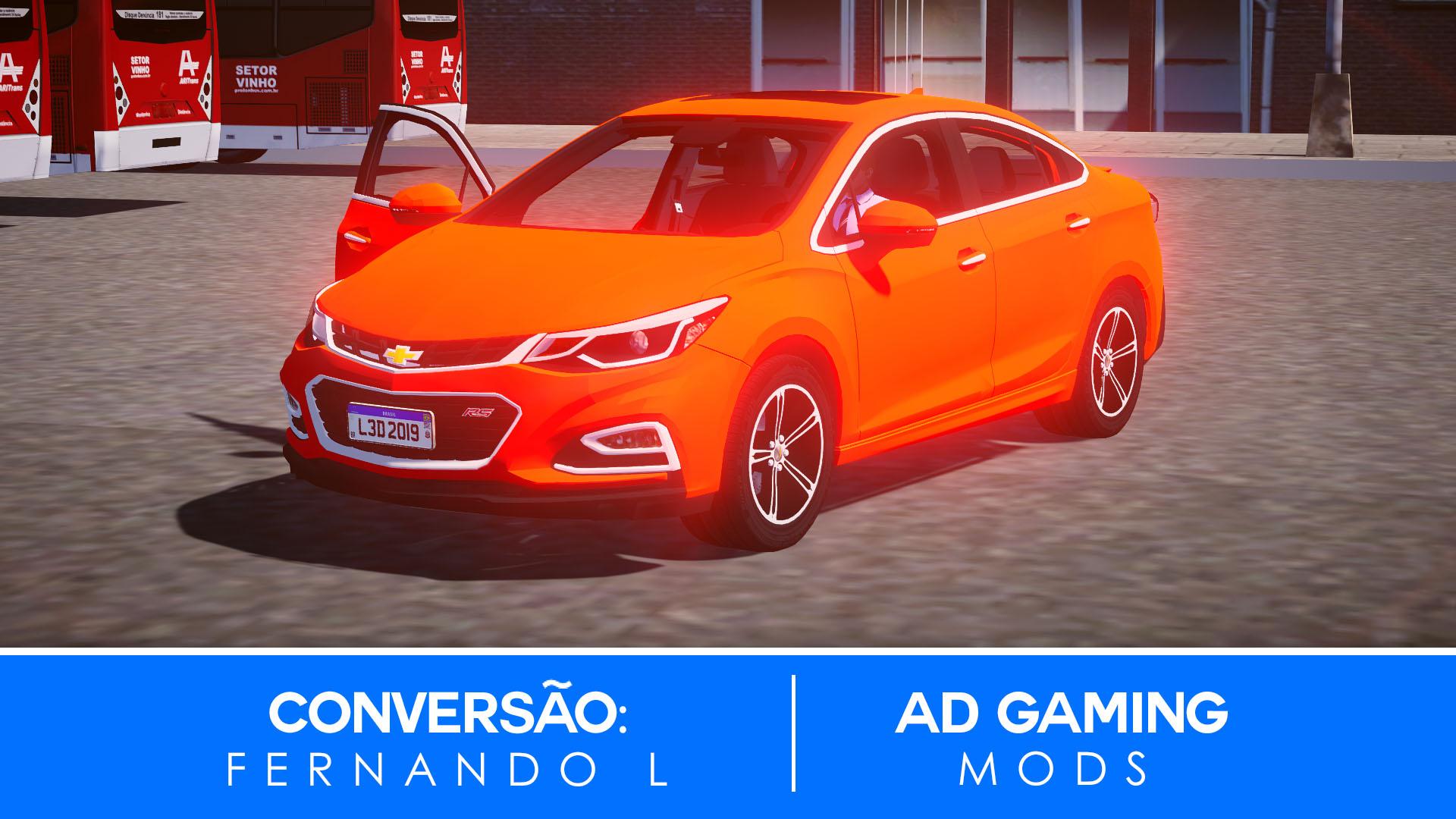 Mod do Chevrolet Cruze RS 2018 para Proton Bus Simulator