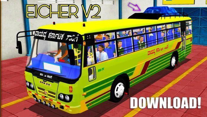 Bus Simulator Indonésia: Bus Eicher V2 (Download)