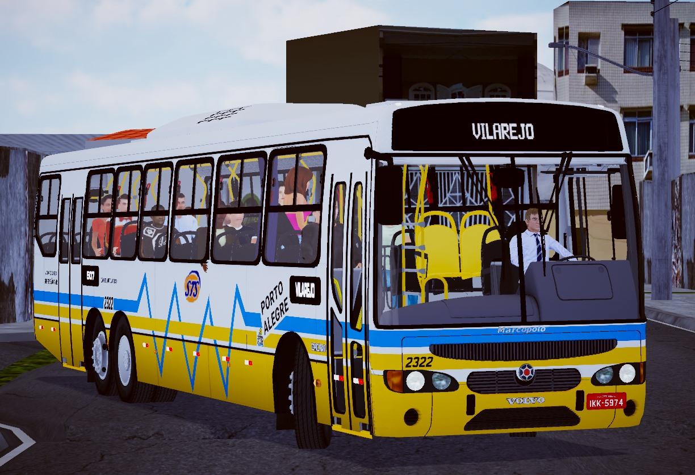 Marcopolo Viale Volvo B10M 6×2 – Padrão Porto Alegre (Fase 2) para Proton Bus Simulator/Road