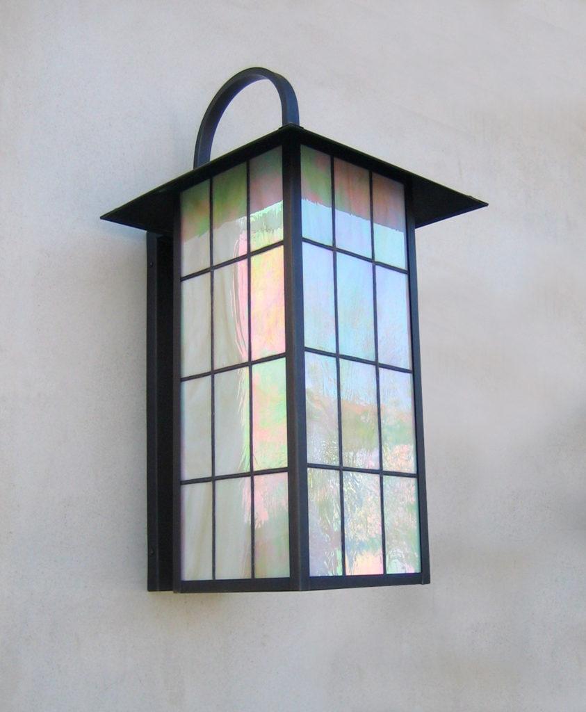 539 Cfl Br W Sh Craftsman Lantern With Cfl Title 24 ADG Lighting Mission Revival