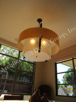 76101 Mb4 Ac H Ba Acrylic Double Drum Pendant LED Light Fixture Transitional Lighting 3WM