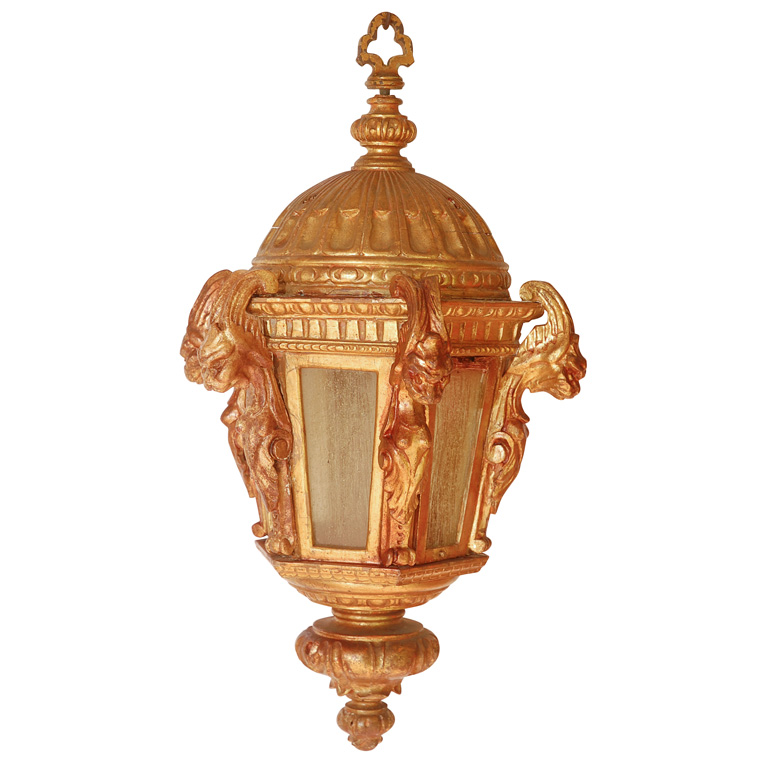844 Mb1 Res H Ca Reproduction Gargoyle Wood Lantern 1 ADG Lighting Italianate Addison Misner