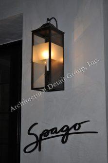 869 Cb2 Br W Sh SPAGO Resturant Lighting Wall Lantern Traditional Lantern With Sanblasted Glass 2 WM