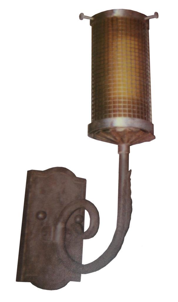 882 LED St S Sh LED Light Mesh Sconce 1 ADG Lighting John L. DeLario Spanish Mid Century
