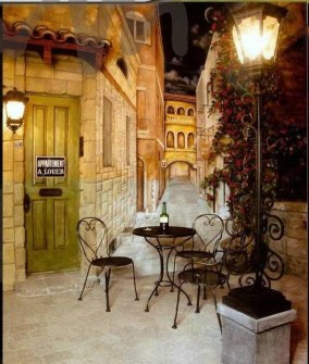 Faux French Courtyard Home Theater Rancho Sante Fe Custom Lanterns For JW McCarter Gerald Olesker Of ADG