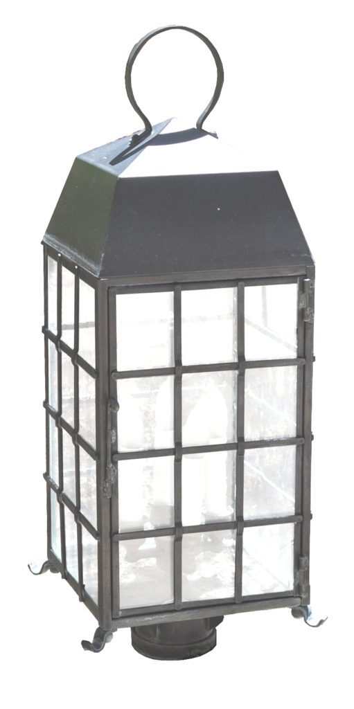 On Ground Lantern 465 Cb4 Br Pi Ba Arrowhead Square Lantern – ADG Lighting