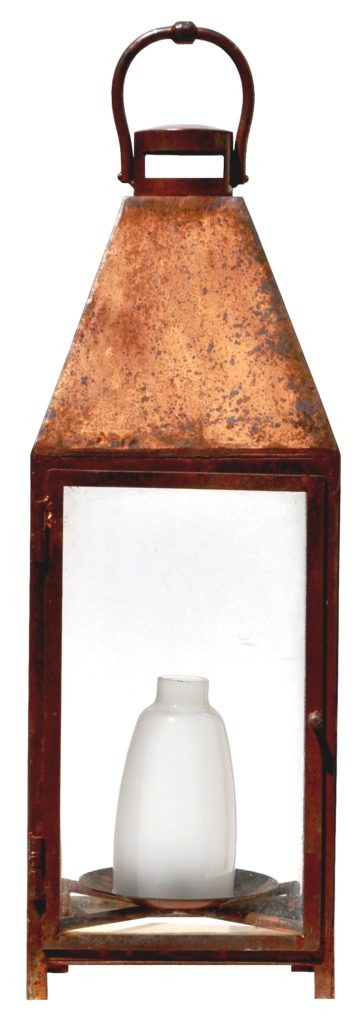 On Ground Lantern862 Mb1 St Pi Ba Copper Plated Landscape Lantern With Frosted Glass Center ADG CR – ADG Lighting