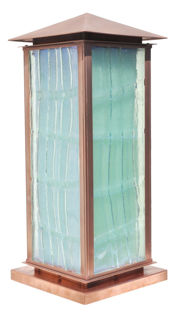 810 Mb2 Brp Sh Cast Glass Copper Pilaster Lantern – ADG Lighting