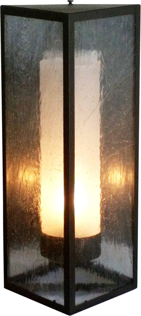 #868 Triangle Sconce Sandblasted Cylinder ADG Lighting