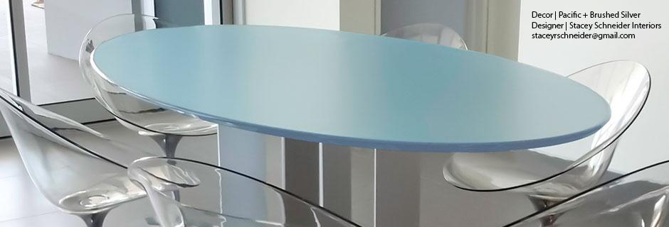 Lumicor ADG Lighting Reflective Finish Tables