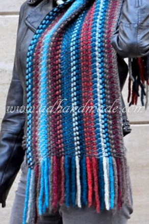 Knitting Scarf by adhandmade