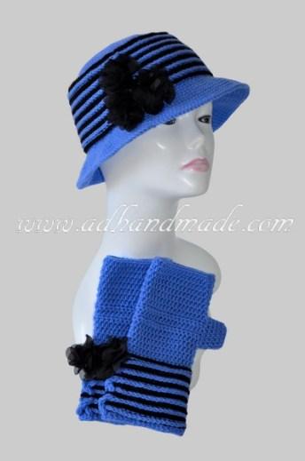 Blue Beret-Glove Kit by adhandmade