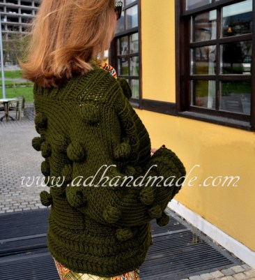 Handmade Knittted Cardigan by adhandmade (Spring Buds)
