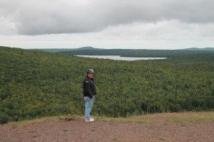 Al at the top of Brockway Mountain