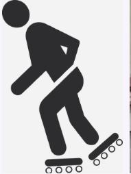 Mensch auf Inline-Skates