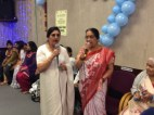 Trustee Shardaben Lodhia and Rekhaben break into a tune