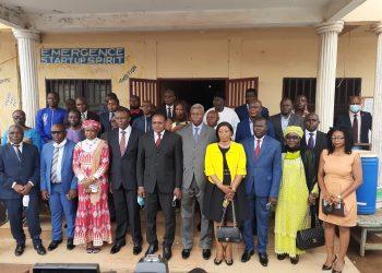Le SG du MINJEC, des hauts cadres et les consultants du PTS.