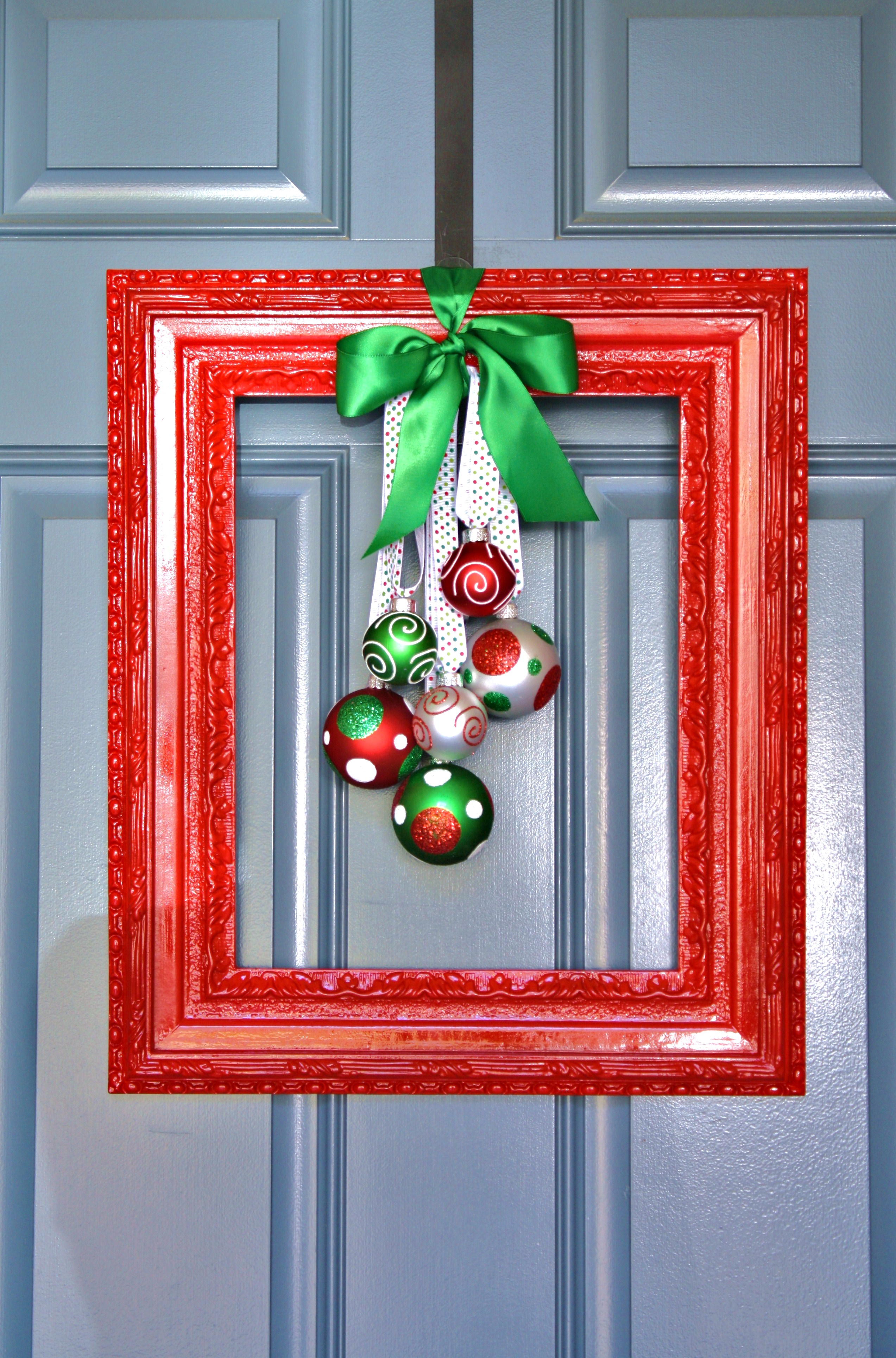 framed christmas wreath a diamond in the stuff