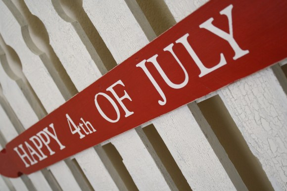 4th of July Fence Board Sign
