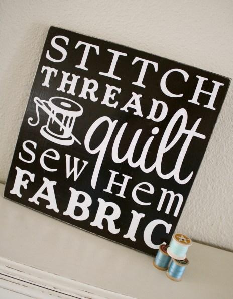 Sewing Subway Art