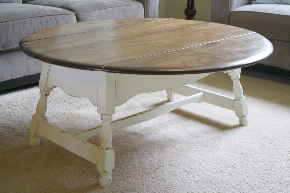 drop leaf farm house coffee table