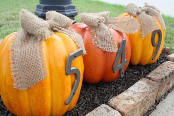 House Number Pumpkins