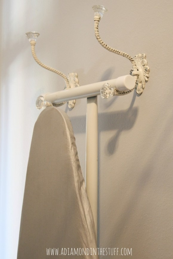 A Pretty Way to Hang Your Ironing Board