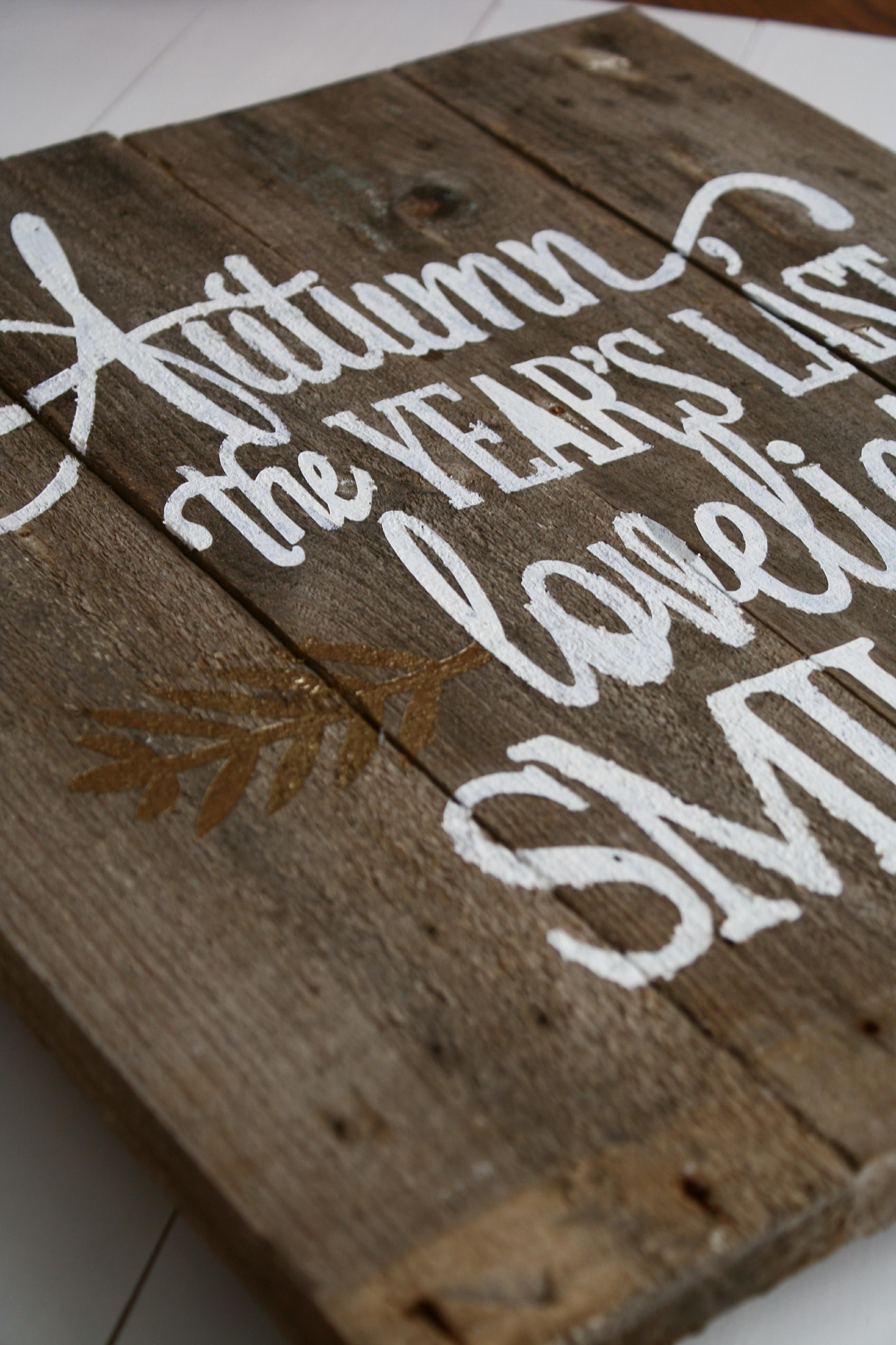 Autumn Pallet Wood Sign
