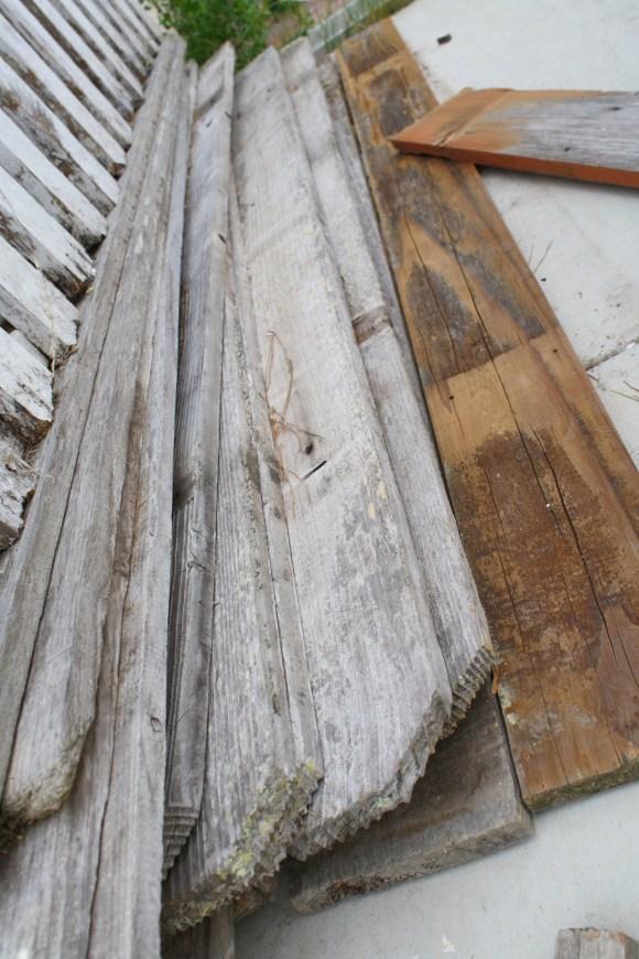 salvaged old wood