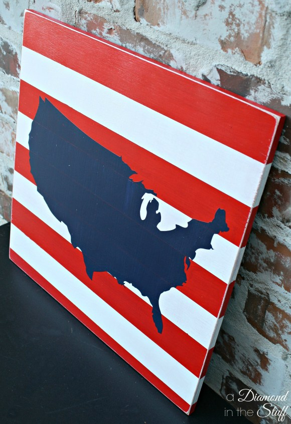 USA Map Sign